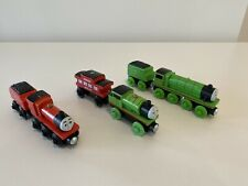 Thomas The Tank Engine Wooden Railway Henry, James and Percy with Tenders