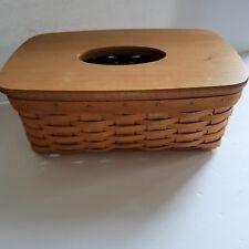 Longaberger Long Tissue Basket w/lid