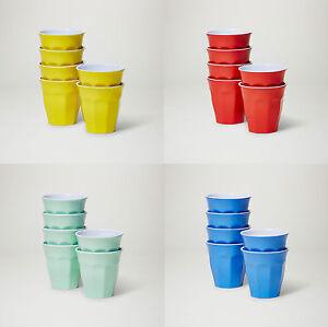 Barel Classic Melamine Cup 200mL Set Of 6 Tumblers 21 Colours - Juice Milk & Tea