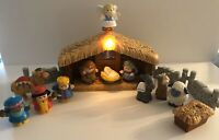 2002 Fisher Price Little People Deluxe Christmas Story Nativity Set Music/ Light