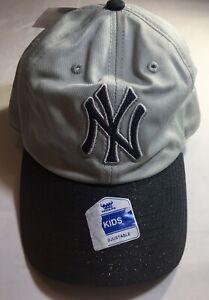 New York Yankees Team Logo Girls Glitter Adjustable Baseball Hat, Cap, MLB
