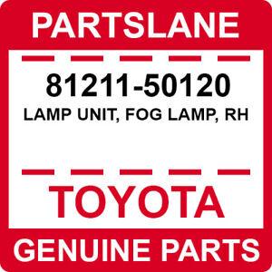 81211-50120 Toyota OEM Genuine LAMP UNIT, FOG LAMP, RH