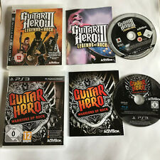 Guitar Hero Warriors Of Rock & III / Boxed Bundle / Sony Playstation 3 PS3