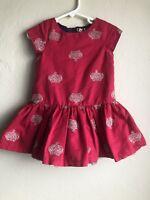 bf282098356 Gently Preowned Toddler Girls Red Purple Crown Genuine Kids OshKosh Dress  Sz 2T