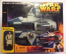 Rare Star Wars Rots Obi-Wans Jedi Starfighter Ship - Boxed Sealed With Figure