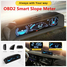 Car Electronics OBD2 Head Up Display Slope Meter Code Clear Inclinometer Compass