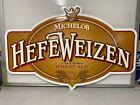 "Vtg 90s Michelob HEFEWEIZEN Metal Beer Sign  NOS 40"" Long"