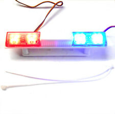 LY502 1/10 Body Shell Direct Roof Mount RC Police Light Bar LED Rotational B/R