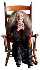 LAUGHING HAG ANIMATED PROP Grandma Haunted House Yard Realistic Moving Halloween