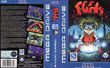 Flink Sega Megadrive PAL EU Replacement Box Art Case Insert Reproduction