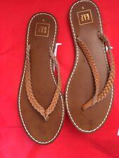 Gap Real Leather Brown Tan Flip Flops Eur 40