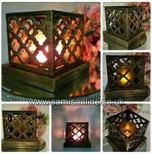 VINTAGE ARABESQUE Arabian LED Glimmer Lanterna Decorazione Ornamento Lumino al titolare