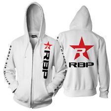 RBP-ZHW-M: RBP White Full-Zip Hoodie - Red Star - Medium
