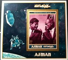 Ajman 1961 Stamp Kennedy and John Glenn Souvenir Sheet RARE Mint MNH