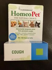 New listing New HomeoPet Cough, 15 Ml Per Bottle Dogs Cats Birds Rabbit Sealed