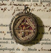 relicario reliquary relic shrine ST JOHN BAPTIST + 4 IMPORTANT SAINTS +DOC 1787