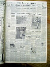 1946 newspaper BOB FELLER pitches his second NO-HITTER for the Cleveland Indians