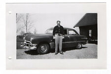 PHOTO ANCIENNE Voiture Auto Automobile Américaine USA Portrait Vers 1960