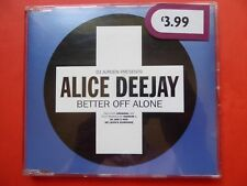 DJ Jurgen Presents Alice Deejay 'Better Off Alone' CD (1999)