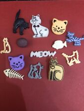 14 Cat Fish card making embellishments Buttons