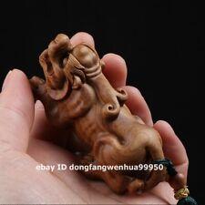 Australian sandalwood Fengshui Animal Foo dog lion Pixiu Beast amulet Pendants