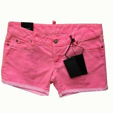 Dsquared2 Pink Denim Shorts Size 42 > 12-14 UK rrp £239 Italian Designer