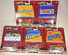 2017 Hot Wheels Pop Culture NESTLE MOVIE SNACK CANDY Cars Complete Set Of 5