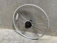 "REAR SILVER 26"" ALUMINUM BIKE BICYCLE RIM/HUB"