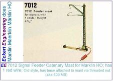 "EE 7012 Early Style Signal Feeder Catenary Mast New Condition with 39"" Wire OBX"