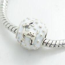 1pcs silver Christmas European Charm Beads Fit 925 Bracelet Necklace SQ193S