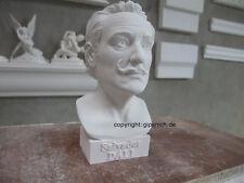 SALVADOR DALI GIPS BÜSTE SPANISCHER MALER SURREALISMUS 1904-1989