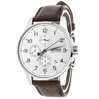 100% New Hugo Boss 1513495 Brown Stainless Steel Navigator Dial Men's Watch