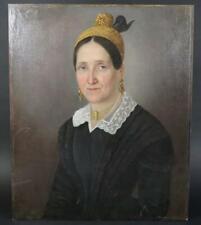 Biedermeier Frauen Portrait Ölgemälde unsigniert 1.Hälfte 19.Jhd (BM703)