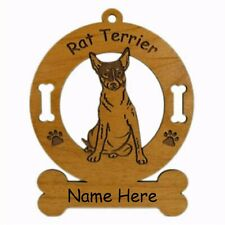 Rat Terrier Sitting Dog Breed Ornament Personalized With Your Dogs Name 3803
