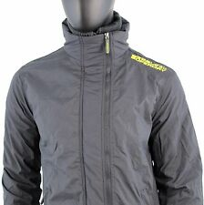Superdry Men's Size S Technical Windcheater Jacket Net Grey Yellow N881