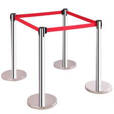 4 x Personenleitsystem Airport Ständer Abgrenzungsständer Gurtpfosten Absperrung