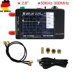 "NanoVNA 50KHz-900MHz Vector Network Analyzer for MF HF VHF UHF Antenna 2.8"" DE"