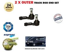 FOR NISSAN ELGRAND 1997-2010 3.0 3.2 3.3 3.5 LEFT + RIGHT OUTER TRACK ROD END