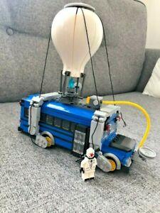 Fortnite Air Bus Blue Car Movable Building Blocks Bricks Set Educational Kit