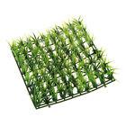 Green Spring Lawn Plastic Grass Rug Mat for Aquarium Fish Tank Decor J5X6