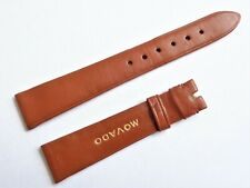 Vintage Movado 16mm Swiss Made NOS Brown High Quality Leather Watch Strap