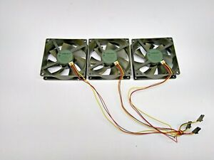 Qty (3) NMB-MAT 12VDC 0.29A Chassis Fans FBA09A12H