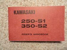 1972 Kawasaki 250 S1 Mach I Rider's Handbook Owner's Manual Owners Shop Parts