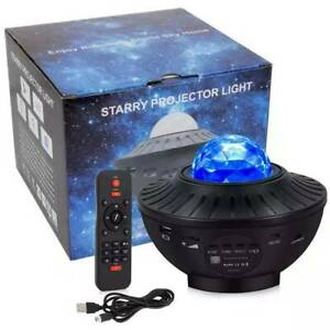 Bluetooth LED Starry Sky Projector Night Light Music Speaker Remote Galaxy Lamps