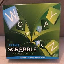 TRAVEL SCRABBLE ORIGINAL COMPACT GAME BOARD GRID 2014 Complete