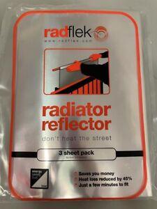 Radflek Radiator Reflector Panels, Reflecting 3 Foil Sheets