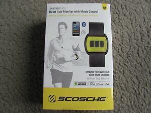 New Scosche RhythmPulse Heart Rate Monitor with Music Control RTHMA1.5 Yellow