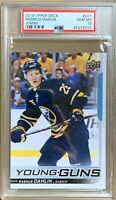 2018 2019 Rasmus Dahlin Card PSA 10 JUMBO RC UPPER DECK YOUNG GUNS ROOKIE YG
