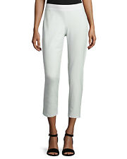 NWD EILEEN FISHER White Crepe Knit Slim Ankle Pants Size PL