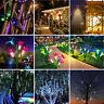 Solar Power Flower Meteor Shower String Lights LED Bulb Wall Lamp Outdoor Garden